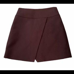JCrew Split front Short Skirt Navy Blue Lined
